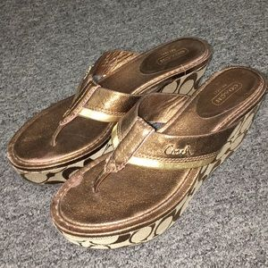 Coach Wedged Sandals